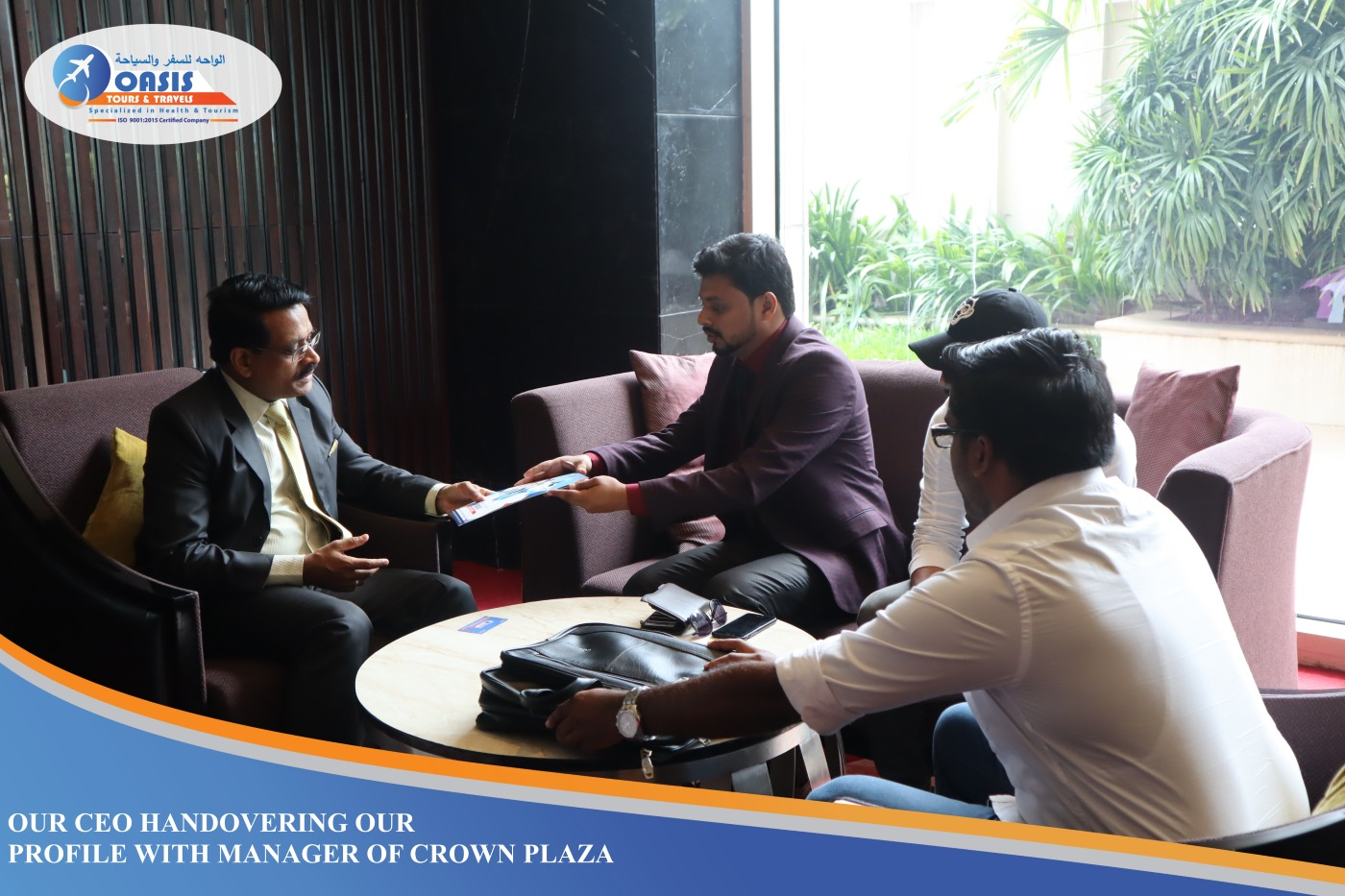 CEO WITH THE MANGER OF CROWNE PLAZA (KOCHI) | Oasis Tours ...